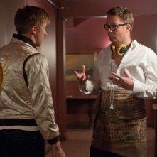 Ryan Gosling con Nicolas Winding Refn sul set del film Drive (2011)