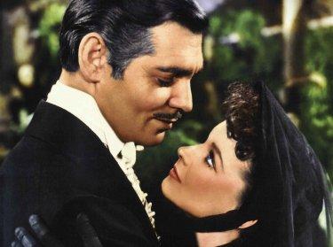 Wallpaper di Via col Vento: Clark Gable e Vivien Leigh in una scena