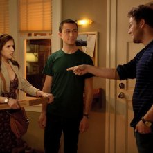 Anna Kendrick, Seth Rogen e Joseph Gordon-Levitt in 50/50: una scena del film