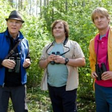 Jack Black, Owen Wilson e Steve Martin birdwatchers accaniti in The Big Year