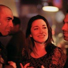 Sara Ricci sul set di Cara, ti amo... con il regista Gian Paolo Vallati e gli attori Alessandro Procoli e Angelo Orlando