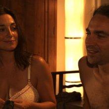 Cara, ti amo...: Sara Ricci e Luciano Scarpa in un momento sul set