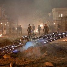 Cowboys & Aliens: l'attacco alieno si abbatte sulla cittadina e sui suoi abitanti