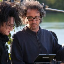 Paolo Sorrentino sul set This Must Be the Place insieme a Sean Penn