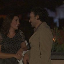 Sara Ricci e Luciano Scarpa in una scena notturna di Cara, ti amo...