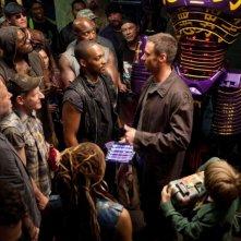 Hugh Jackman in Real Steel con Dakota Goyo e Anthony Mackie