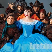 Lily Collins nel film The Brothers Grimm: Snow White in un'immagine pubblicata da Entertainment Weekly