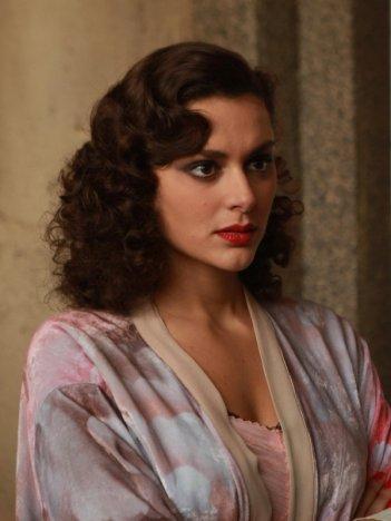 Raffaella Rea in una immagine della fiction Rai Il Generale Della Rovere