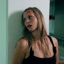 Harriet MacMasters-Green in una scena del thriller Parking Lot 3D