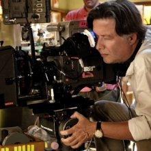 Il regista Massimo Martelli sul set della commedia Bar Sport