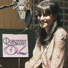 Lea Michele durante la registrazione dei dialoghi del film Dorothy of Oz