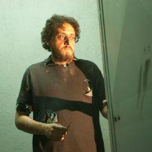 Massimo De Lorenzo sul set di Parking Lot 3D, diretto da Francesco Gasperoni