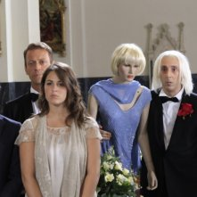 Matrimonio a Parigi: Diana Del Bufalo, Emanuele Bosi, Rocco Siffredi e Massimo Ceccherini in una scena del film