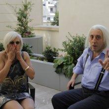 Paola Minaccioni e Massimo Ceccherini in una scena di Matrimonio a Parigi