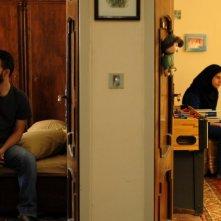 Un'immagine di Peyman Moadi e Sarina Farhadi in una scena dell'intenso dramma Una separazione