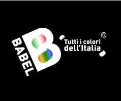 Il logo nero di Babel - Tutti i colori dell'Italia, canale 141 della piattaforma Sky