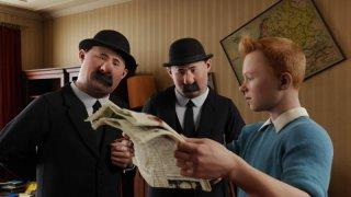 Una scena del film d'animazione Le Avventure di Tintin: il segreto dell'unicorno