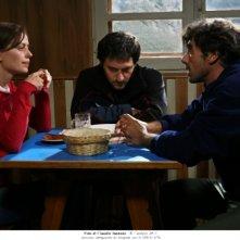 Filippo Timi, Claudia Pandolfi e Thomas Trabacchi in un'immagine di Quando la notte