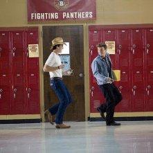 Footloose (2011) Kenny Wormald con Miles Teller in una scena