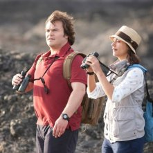 Jack Black con Rashida Jones in The Big Year
