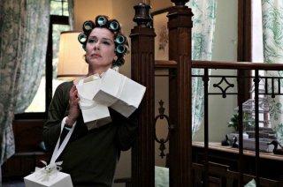 Monica Guerritore sul set del film La peggior settimana della mia vita