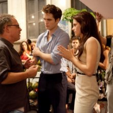 The Twilight Saga: Breaking Dawn - Parte I, il regista Bill Condon insieme ai protagonisti Kristen Stewart e Robert Pattinson