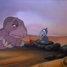 Il protagonista in una scena del film d'animazione Alla ricerca della valle incantata