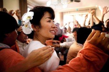 Michelle Yeoh in una scena di The Lady