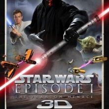 Star Wars: Episode I - The Phantom Menace 3D: il poster della riedizione USA