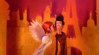 Un monstre à Paris: una romantica  scena del film