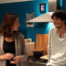 Claudia Gerini in una scena de Il mio domani insieme a Lino Guanciale