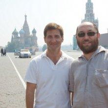 I produttori Timur Bekmambetov e Tom Jacobson sul set de L'ora nera 3D