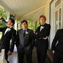 Il cast maschile della commedia A few best men di Stephan Elliott