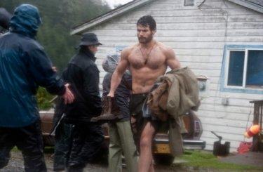 Look alternativo per Henry Cavill sul set di Superman: Man of Steel