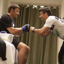 Joel Edgerton in una scena di Warrior insieme a Frank Grillo
