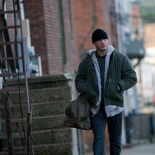 Tom Hardy nei panni di Tom Conlon in una scena tratta dal film Warrior