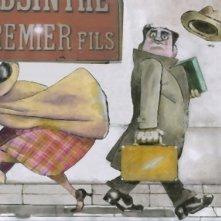 Un frammento del film Tormenti - Film disegnato di Filiberto Scarpelli