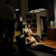Fabrizio Gifuni e Valeria Golino si preparano al ciak sul set de La kryptonite nella borsa di Ivan Cotroneo