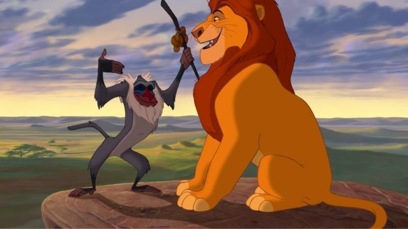 Rafiki E Mufasa In Una Scena Del Film Il Re Leone 3D 219347
