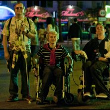 Hasta la vista!: Gilles De Schrijver, Robrecht Vanden Thoren e Tom Audenaert in una scena del film