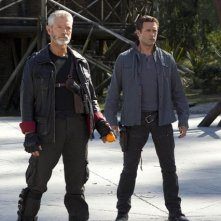 Terra Nova: Jason O'Mara e Stephen Lang nell'episodio The Runaway