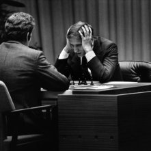 Bobby Fischer against the world, un'immagine di Boris Spassky contro Robert Fischer in una storica partita di scacchi