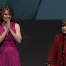 Sabina Guzzanti e Franca Valeri in una scena tratta dal documentario Franca, la prima