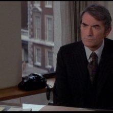 Gregory Peck in una scena del film Il presagio
