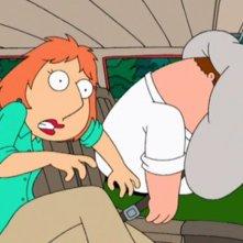 I Griffin: Lois e Peter in una scena de I due volti della passione
