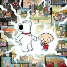 Poster promozionale di Road to the Multiverse primo episodio della stagione 8 de I Griffin