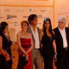 Rebecca Autorino con Gabriel Garko e Manuela Arcuri al Roma fiction fest 2010