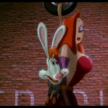 Roger e Jessica Rabbit in una scena di Chi ha incastrato Roger Rabbit?