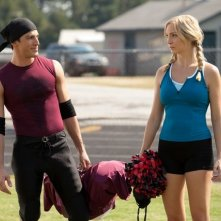 The Vampire Diaries: Michael Trevino e Candice Accola in una scena dell'episodio Smells Like Teen Spirit