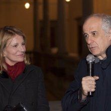 Toni Servillo e la regista di Un balcon sur la mer Nicole Garcia a Firenze